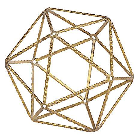 Metro Geo Medium Gold Geometric Shaped Metal Ball