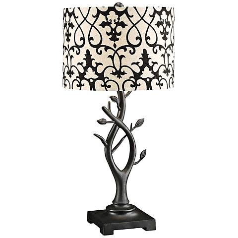 Crestview Collection Whispering Vine Oil Black Table Lamp