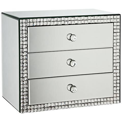 Lorain 3-Drawer Mirrored Jewelry Box