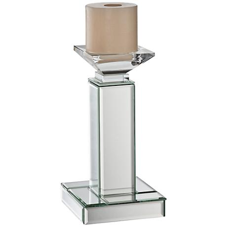 Chisolm Silver Mirrored Decorative Candle Holder