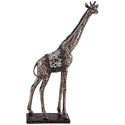 "Walking Giraffe 28 1/4"" High Statue"