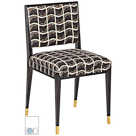 Eloquent Black Patriotic Print Upholstered Dining Chair