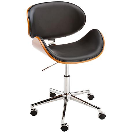 Quinn Adjustable Black Faux Leather Office Chair