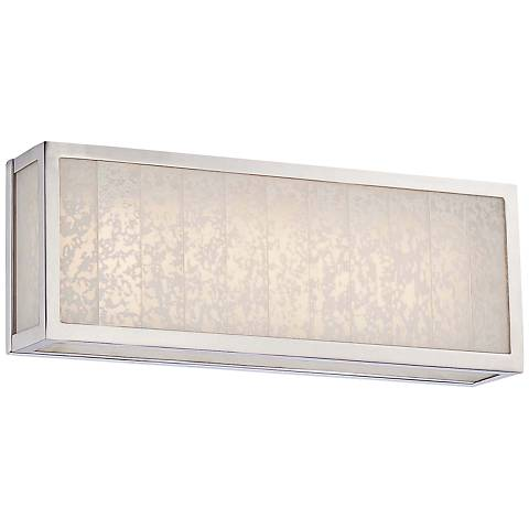 "Lake Frost 16""W Polished Nickel LED Bath Light"