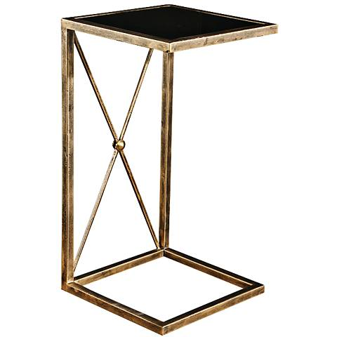 Uttermost Zafina Antique Gold Side Table