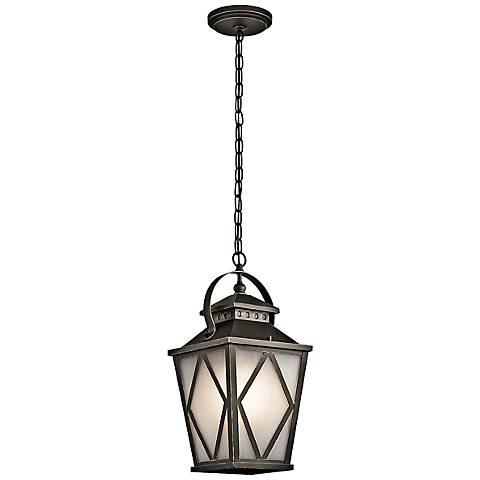 "Kichler Hayman Bay 20""H Old Bronze Outdoor Hanging Light"
