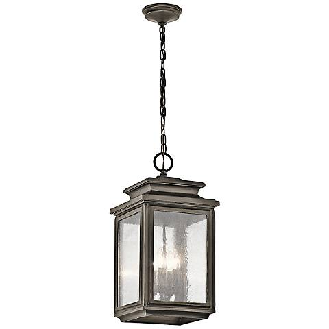 "Kichler Wiscombe Park 23""H  Bronze Outdoor Hanging Light"