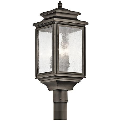 """Kichler Wiscombe Park 23 1/4""""H  Bronze Outdoor Post Light"""
