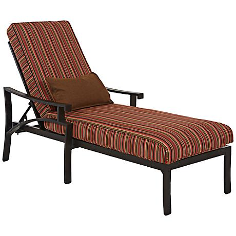 Klaussner Linder Dark Earth Tone Outdoor Chaise
