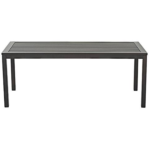 Klaussner Linder Dark Earth Rectangle Outdoor Cocktail Table