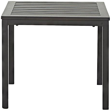 Klaussner Linder Dark Earth Square Outdoor End Table