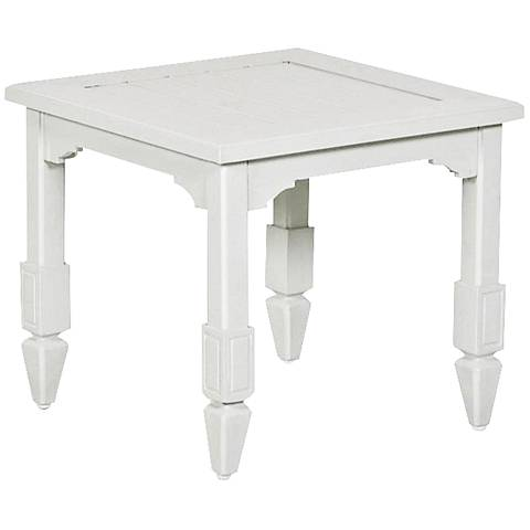 Klaussner Mimosa Crisp White Square Outdoor End Table
