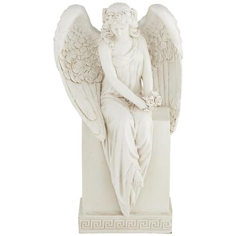 "Angel in Repose 12 3/4"" High Statue"