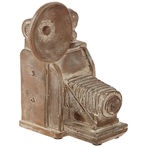 "Old Fashioned Camera 9 1/4"" High Decorative Sculpture"
