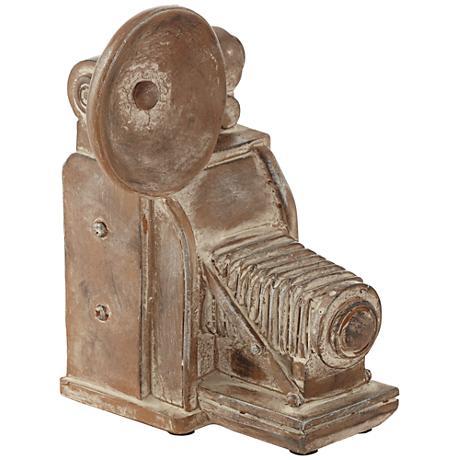 "Old Fashioned Camera 9 1/4"" High Decorative Sculpture"