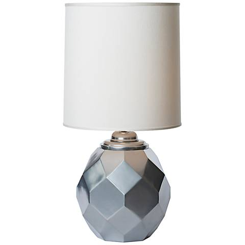 Thumprints Silvadillo Silver Geometric Accent Table Lamp