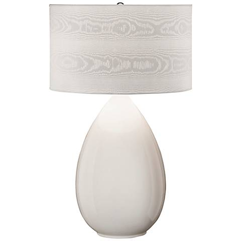 Thumprints Pure White Ceramic Table Lamp
