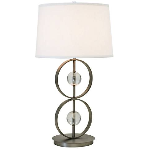 Thumprints Lake Shore Satin Pewter Table Lamp