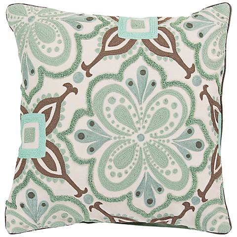 "Surya Modern in Morocco 20"" Square Cotton Throw Pillow"