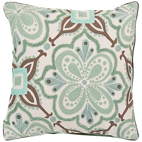 """Surya Modern in Morocco 20"""" Square Cotton Throw Pillow"""