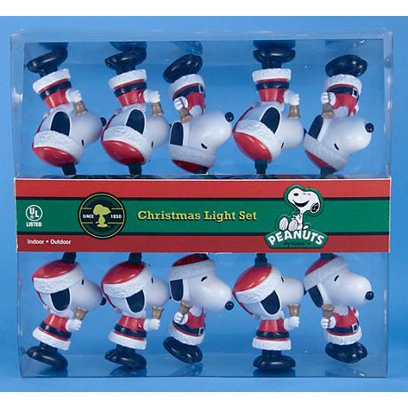 Peanuts Christmas Santa Snoopy 10-Light String Light