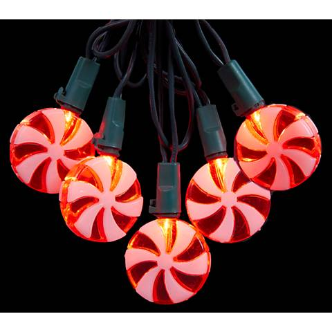 Winter Mint Red and White Candy 20-LED String Light