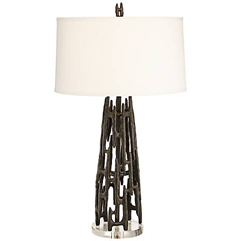 Paragon Metallic Iron Black Table Lamp