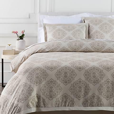 Surya Anniston Neutral Linen Cotton Duvet Set