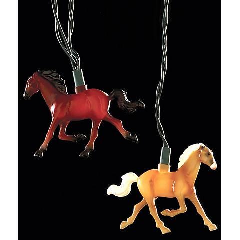 Wild Running Horse 10-Light Indoor-Outdoor String Light