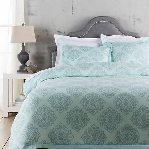 Surya Anniston Blue Linen Cotton Duvet Set