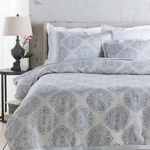 Surya Anniston Gray Linen Cotton Duvet Set