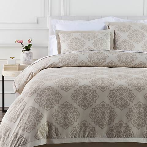 Surya Anniston Neutral Linen Cotton Duvet Set