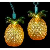 Golden Amber Tropical Pineapple 10-Light String Light