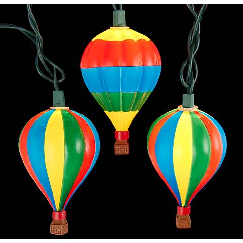 Primary Colors Hot Air Balloon 10-Light String Light
