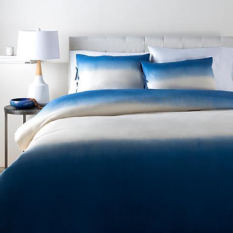 Surya Dip Dyed Blue Cotton Duvet Set
