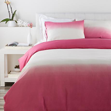 Surya Dip Dyed Pink Cotton Duvet Set
