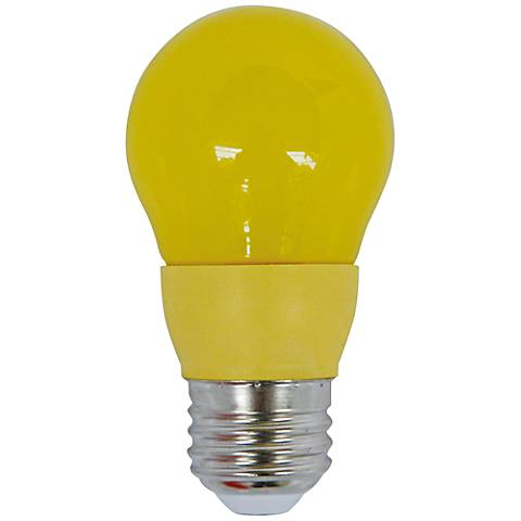 40W Equivalent Yellow 5 Watt LED Non-Dimmable Standard Bulb