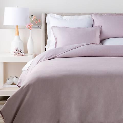 Surya Evelyn Purple Linen Duvet Set
