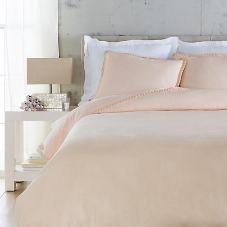 Surya Evelyn Pink Linen Duvet Set