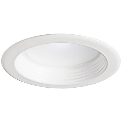 "4"" White Baffle 10W Dimmable LED Retrofit Trim in White"