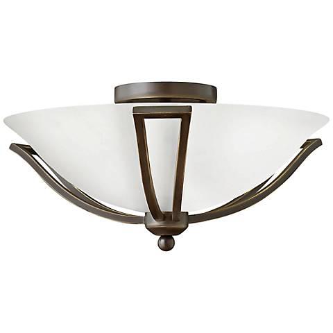 "Hinkley Bolla 16 3/4"" High Olde Bronze Opal Ceiling Light"