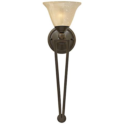 "Hinkley Bolla 26"" High Olde Bronze Amber Wall Sconce"