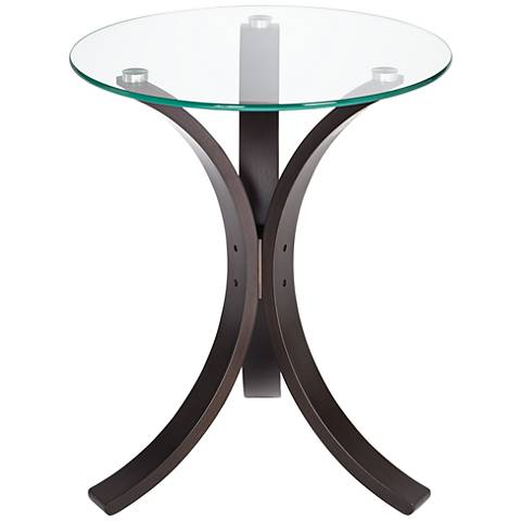 Niles Bentwood and Glass Accent Table
