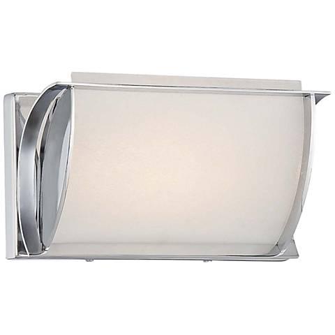 """Arlington Brooke 9""""W Chrome Frosted LED Bath Light"""