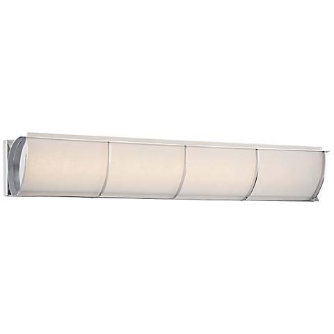 "Arlington Brooke 32"" Wide Chrome Frosted LED Bath Light"