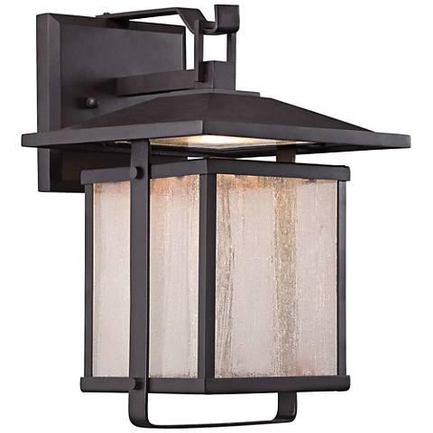 """Hillsdale 8"""" High Dorian Bronze LED Outdoor Wall Light"""