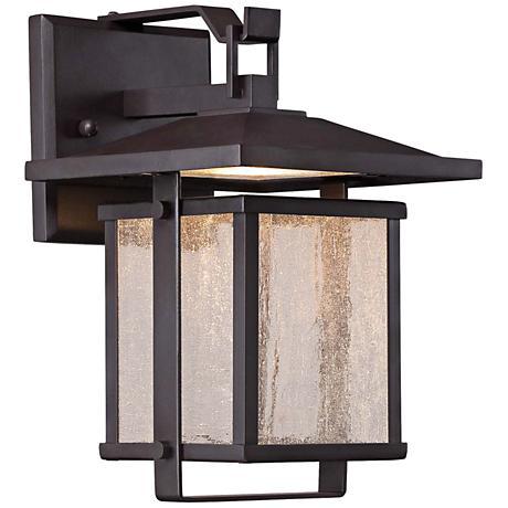 """Hillsdale 14"""" High Dorian Bronze LED Outdoor Wall Light"""