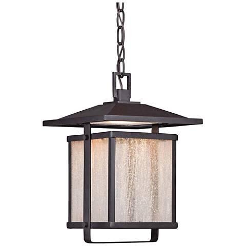 "Hillsdale 12 3/4""H Dorian Bronze LED Outdoor Hanging Light"