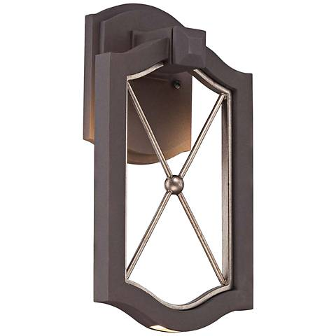 "Eastborne LED 13 1/4"" High Sand Bronze Outdoor Wall Light"