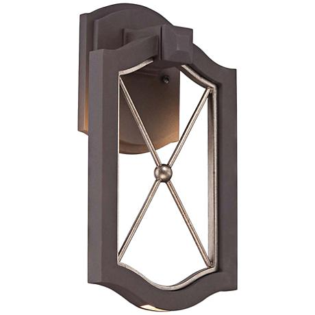 "Eastborne LED 13 1/4"" High Sand Bronze Outdoor Wall Light"